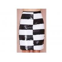 Buy cheap Striped Polyester Womens Dresses Skirts Washable With Side Zipper from wholesalers
