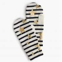 Buy cheap Girl ' S Knitted Mitten Gloves With Foil Print Customized Color One Size from wholesalers