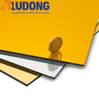 Buy cheap 3MM Gold Silver Mirror Aluminum Composite Panel PE Coating from wholesalers