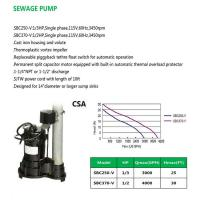 Buy cheap SEWAGE PUMP SBC250-V SBC370-V product