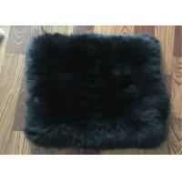 Buy cheap Long Hair Lambs Wool Padding For Chair , Soft Sheepskin Floor Cushion 45 X 45 Cm from wholesalers