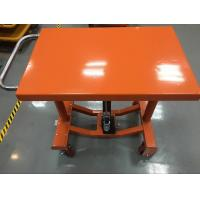 Buy cheap Four Wheels Electric Hydraulic Lift Table Adjustable Height 610 X 915 Mm Table Dimensions from wholesalers