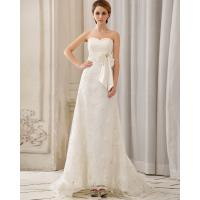 Buy cheap Fashion halter Heart Shaped Lace Princess Wedding Gowns with long trail from wholesalers