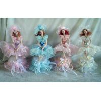 Buy cheap Thanksgiving Porcelain Doll Music Box With Lace Purple 10 Inch from wholesalers