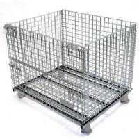 Buy cheap Easy Clean Wire Mesh Pallet Cages , Warehouse Cages On Wheels Rust Resistant from wholesalers