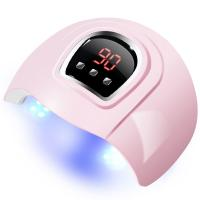 Quality Pink Color UV LED Nail Lamp , Nail Polish Dryer Curved Half - Closed Design for sale