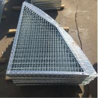 Buy cheap Outdoor Anti Slip Galvanized Bar Grating , 30 * 3mm Metal Grid Flooring from wholesalers