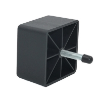Buy cheap 70MM Black Square Furniture Plastic Sofa Feet Replacement from wholesalers