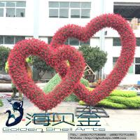 Buy cheap Love Heart Shaped Artificial Flowered Wedding Arch Shelf Love Wedding Topiary for Ceremony from wholesalers