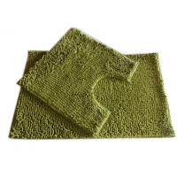 Buy cheap 25mm Pile Height Chenille Microfiber Bathroom Mat , Olive Green from wholesalers