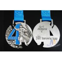 Buy cheap Singing Riding Marathon Custom Sports Medals Cut Out Design 3D effect With Sublimated Ribbon from wholesalers