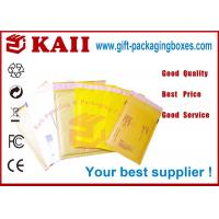 Buy cheap Custom Size Craft Kraft Paper Envelopes Yellow Color , Peel And Seal from wholesalers