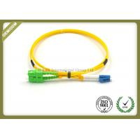 Buy cheap LC UPC To SC APC Single Mode Fiber Cable Duplex 9/125 Wavelength With OFNR Jacket from wholesalers