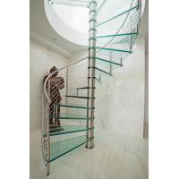 Buy cheap Inside spiral staircase with stainless steel railing design product