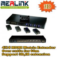 Buy cheap 4 to 4 HDMI Matrix Extender Kit (4Rx over cat6e for 60m) from wholesalers