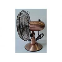 Air Cooling Decorative Retro Electric Fan , European Market Antique Retro Chrome Fan
