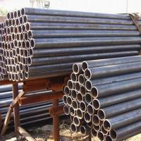 China Q195 / Q235 Cylindrical Black Metal Pipe , Large Diameter Erw Welded Pipe on sale