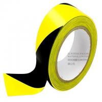 Buy cheap Warehouse PVC Yellow Black Hazard Warning Tape Strong Adhesion Wear Resistance from wholesalers