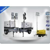 Buy cheap Low Noise Trailer Mounted Mobile Light Tower Generator 10Kw/12Kva F Insulation Class from wholesalers