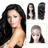 Buy cheap Body Wave Full Lace Human Hair Wigs , Virgin Brazilian Remy Human Hair Full Lace Wig from wholesalers