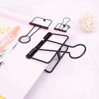 Buy cheap Skeleton Clip Binder Clips Oem Quality 19Mm 32Mm 51Mm Black Metal Long Binder Clip from wholesalers
