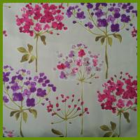 Buy cheap Flower design heat transfer printed tablecloth made of 100% polyester table decration cloth from Wholesalers