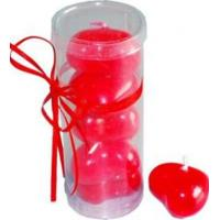 Buy cheap 4pk Red unscented floating candle with heart shape packed into clear gift box from wholesalers