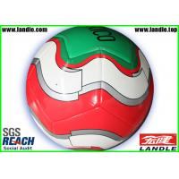 Buy cheap PVC / PU / TPU Material Customized Soccer Balls , Machine Stitched Genuine Leather Soccer from wholesalers
