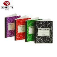 Buy cheap A5/A4 100 Sheets Black Paper Bound Sewing Thread Marble Composition Book from wholesalers