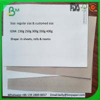 Buy cheap Wholesale products bags material white coated duplex board with grey back from wholesalers