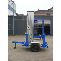 Buy cheap Towing Single Mast Aerial Work Plaform For Long Distance Transportation from wholesalers