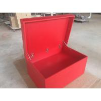 Buy cheap Red Tall Wooden Shoe Cabinet / Customized Size Wooden Sneaker Box Storage from wholesalers
