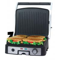 Buy cheap Fully Open 4 Slice Panini Grill, panini press, sandwich press, sandwich toaster With S/S Housing from wholesalers
