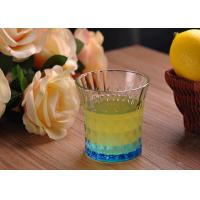 Buy cheap Colored Embossed Whiskey Glass Cups , Recycled Glasses Tumblers for Water from wholesalers