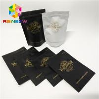 Buy cheap Plastic zipper matte black Snack Bag Packaging stand up resealable coffee ziplock pouch from wholesalers
