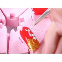 Buy cheap Colorful Gel Nail Brush Metal Handle Material Multi Sizes Easy Operation product