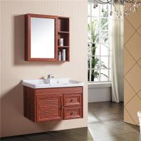 Buy cheap Aluminum Alloy Bathroom Sinks And Vanities With Mirror Cabinet / Two Drawers from wholesalers