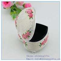 Buy cheap Metal jewelry box for wedding gifts small size from wholesalers