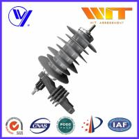 Quality 18KV Silicon Rubber Metal Oxide Station Class Surge Lightning Arresters for Transformer Protection for sale
