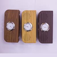 Buy cheap 2017 newest high quality Hotel alarm clock wireless wooden bluetooth speaker with FM radio USB from wholesalers