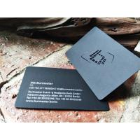 Buy cheap High Class Foil Stamped Business Cards Customized Design Thick Black Card from wholesalers