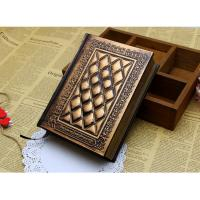Buy cheap New Vintage Classic Retro Embossed Plaid PU Leather Framed Notebook Diary Journal from wholesalers