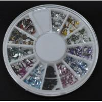 Buy cheap Comma-High Quality Colors Nail Art Rhinestones Glitters Gems Nail Art Decoration Wheel from wholesalers