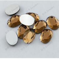 Buy cheap high quality fast shipping flat back glass Golden stones in bulk from wholesalers