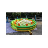 Buy cheap Cute White Bunny Rabbit On The Grass Inflatable Bouncer Combo , Blow Up Amusement Park With Blower from wholesalers