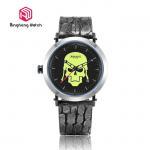 Buy cheap Skeleton Warriors Design Male Analog Quartz Wrist Watch , Mens Bracelet Watch Round Case from wholesalers