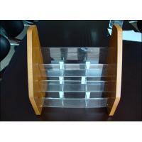 Buy cheap Adjustable Acrylic Display Holders Non-toxicity With Wood Card product