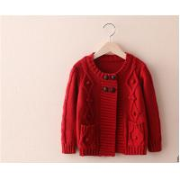 Buy cheap Sweet  Girl's cardigan sweater long-sleeve knitting sweater handmade sweater from wholesalers