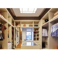 Buy cheap U Shaped Closet Organizers With Soft Close Drawers , modern walk in wardrobe shoe storage from wholesalers