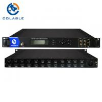 Buy cheap 8 12 16 24 HD To QAM Encoder Modulator D DVB C Tuner Optional For Hotel Hospital from wholesalers